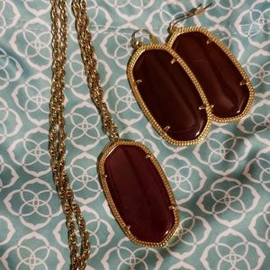 Kendra Scott earrings and necklace set